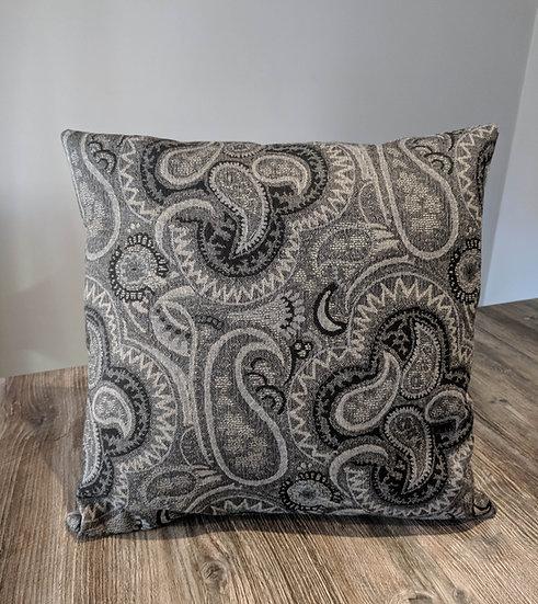 Grey Paisley cushions UK