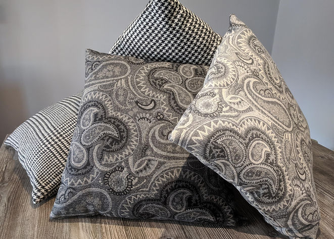 Designer Grey cushion soft furnishings uk