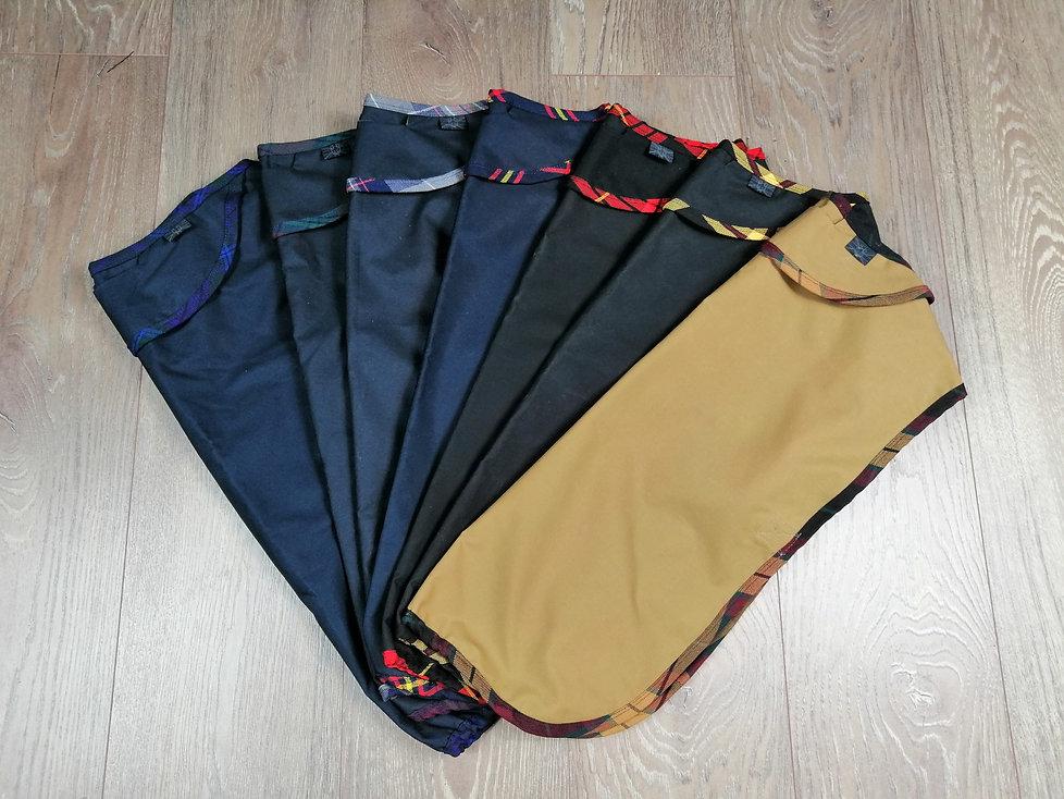 Designer Wax dog coats UK