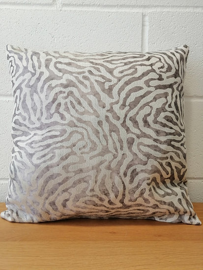 Silver Animal print cushion covers , grey, silver