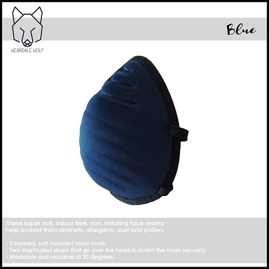 Washable and Reusable, protective face mask Navy