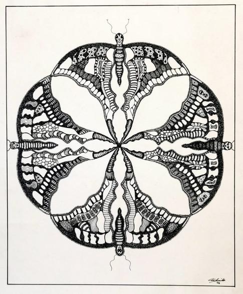 Quatre papillons