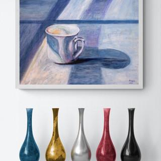 La tasse de café - CS9121 - Acrylique 40 x 30