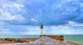 Le phare et le pêcheur - Luminar + HDR S