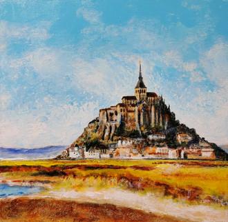 Mont Saint-Michel I - CS3221 - Acrylique 30 x 30