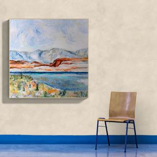 Bolivian desert - CS4621 - Acrylique 40 x 40