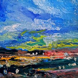 Night on the Valley - CS10321 - Huile 20 x 20