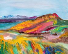 Paysage d'automne I  - CS9821 - Huile sur papier toilé 26 x 21
