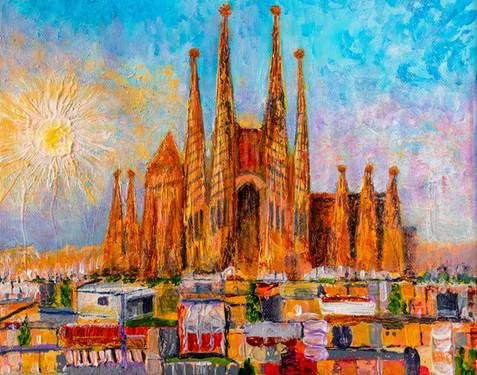 Sagrada Famiglia I - Barcelona - CS3121 - Acrylique 30 x 24