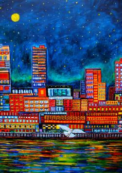 Tetris City II - CS4121 - Acrylique 50 x 70