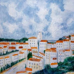 La ville blanche - CS4521 - Acrylique 40 x 40