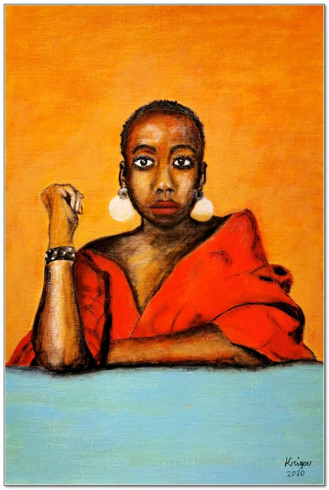 Black Magic Woman V - Aurora - Acrylique 22 x33