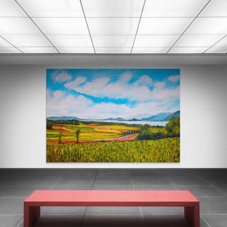 Lac de Bienne depuis Bellmund - CS6721 - Acrylique 70 x 50