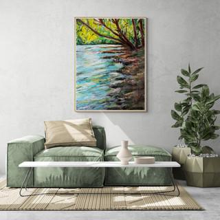 La rivière - CS9021 - Acrylique 30 x 40