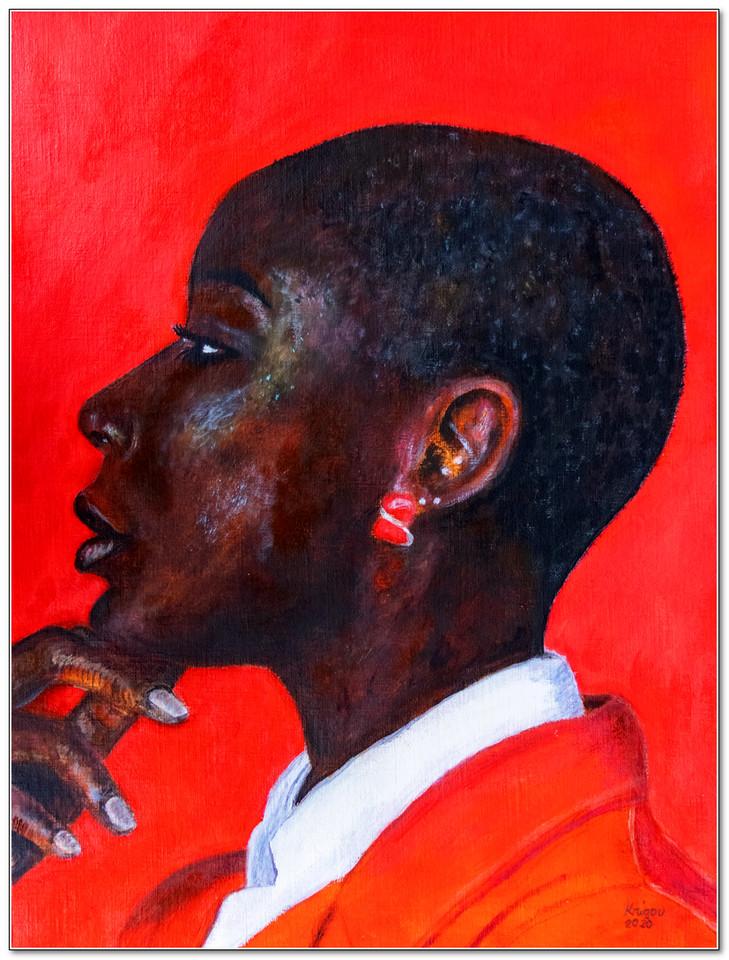 Black Magic Woman VI - Acrylique sur papier toilé 40 x 30 - réf. CS4320