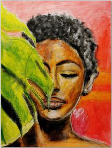 Black Magic Woman IV - Acrylique 30 x 40