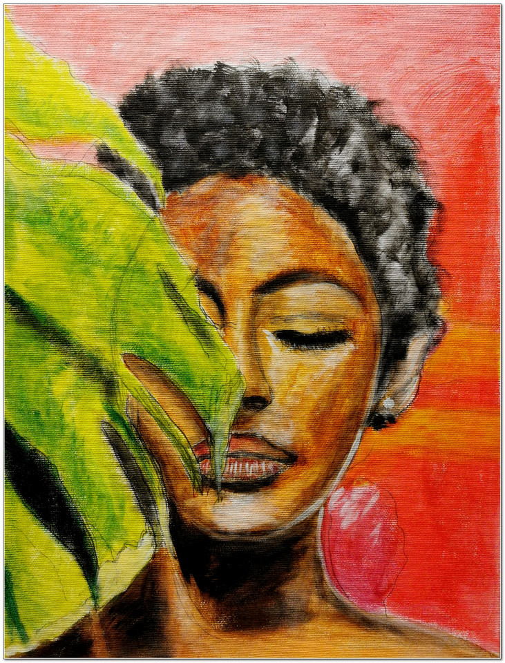 Black Magic Woman IV - Acrylique 40 x 30