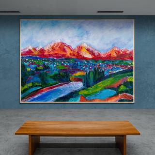 Ambiance crépusculaire - CS9321 - Acrylique 40 x 30