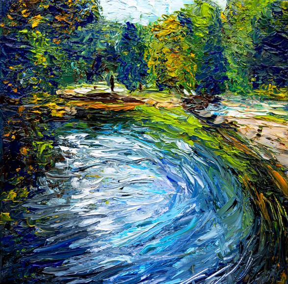 Au bord de l'étang 2 - CS10721 - Huile 20 x 20