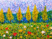 Floral study 1 - CS4721 - Acrylique 40 x 30