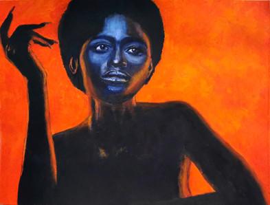 Black Magic Woman XII - CS5521 - Acrylique 40 x 30