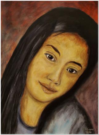 Chica Latina II - Mi Hija Marcela - CS5120 - Acrylique sur papier toilé - 30 x 40