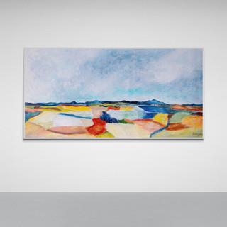 Entre ciel et terre - CS9221 - Acrylique 60 x 30