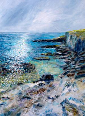 Depuis les falaises - CS6121 - Acrylique 50 x 70