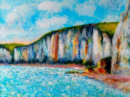 Falaises normandes - CS3621 - Acrylique 40 x 30