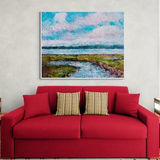 Paysage lacustre I - CS8121 - Acrylique 30 x 24
