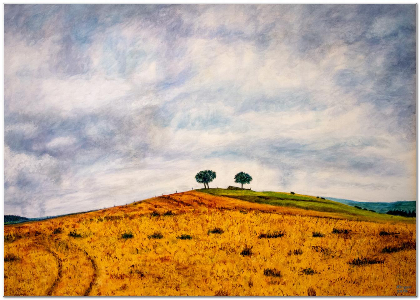 Arbres sous l'orage - Acrylique 70 x 50