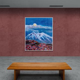Nuit de pleine lune à la Paz - CS8021 - Acrylique24 x 30