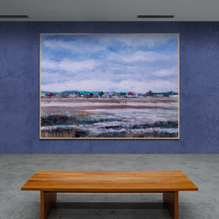 Crotoy à la marée basse - CS10021 - Huile 40 x 30