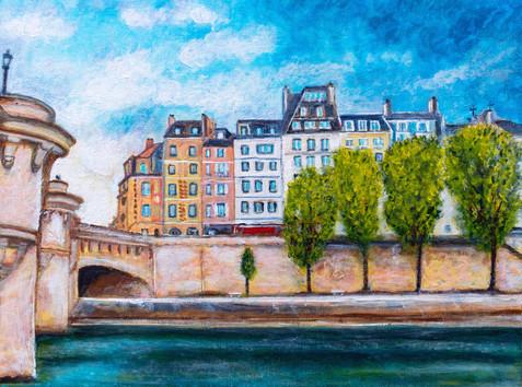 Vers le Pont-Neuf  - CS3021 - Acrylique 40 x 30