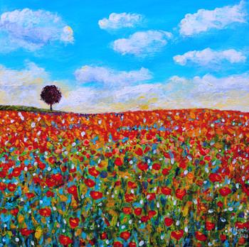 Un petit bout du paradis - El Jardín del Edén - CS6021 - Acrylique 40 x 40