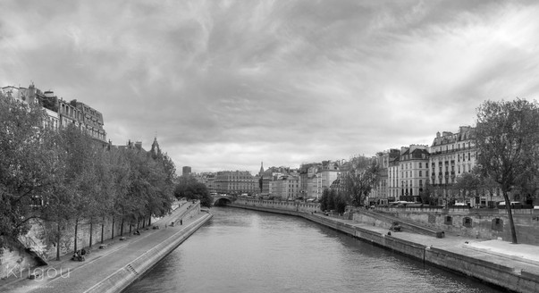 La seine parisienne Lumi recadre NB with