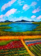 Quinoa sur les rives du Titicaca - CS5421 - Acrylique 30 x 40