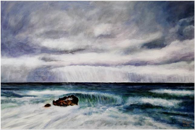 Storm at Sea - CS2321 - Acrylique 60 x 40