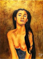 Portrait of a Woman - Moonstone - CS0921 - Acrylique 30 x 40