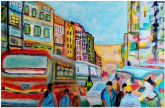 Scène de vie à la Paz - CS5420 - Acrylique 38 x 25