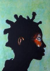 Black Magic Woman I - Acrylique 25 x 35, d'après une photo de Igor Burba