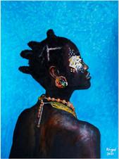 Black Magic Woman IX - CS0621 - Acrylique 40 x 30