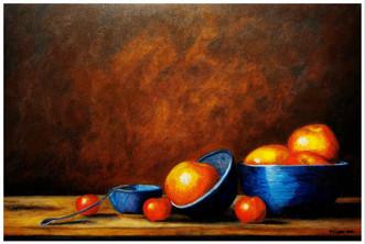Still Life with Apples - CS1921 - Acrylique 60 x 40