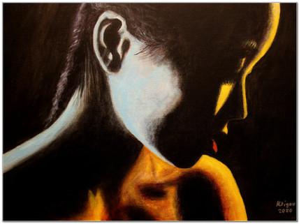 Black Magic Woman III - Cold Heat - Acrylique 40 x 30