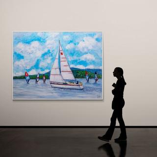 Ecole de planches à voile - CS5021 - Acrylique 40 x 30