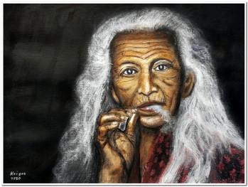 Mama Esah - Réf. CS4820 - Acrylique 40 x 30