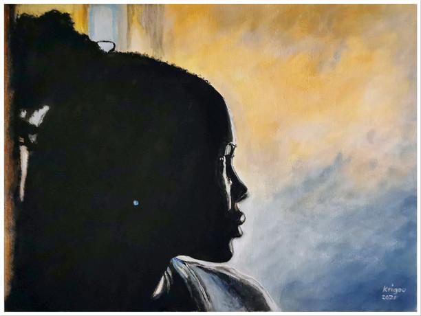 Black Magic Woman XI - Alexandra - CS2021 - Acrylique 40 x 30