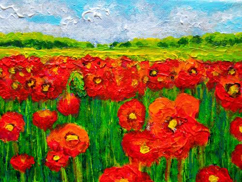 Poppies II - CS4021 - Acrylique 24 x 18