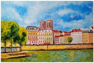 Vue parisienne I - CS1521 - Acrylique 60 x 40