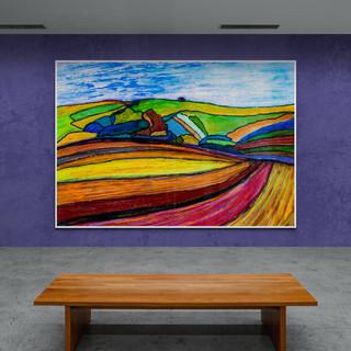 Entre ciel et terre III - CS9721 - Pastel + gouache - 42 x 29